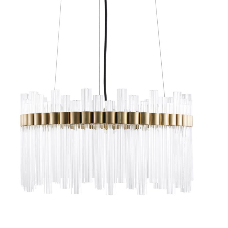 Orion Glass Crystal Chandelier