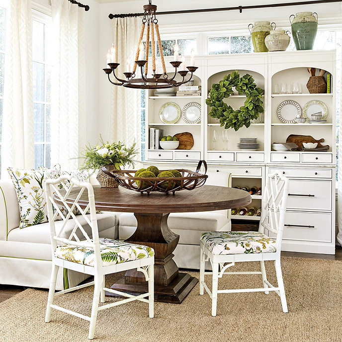 "Ballard Designs Andrews Pedestal Dining Table - 60"""