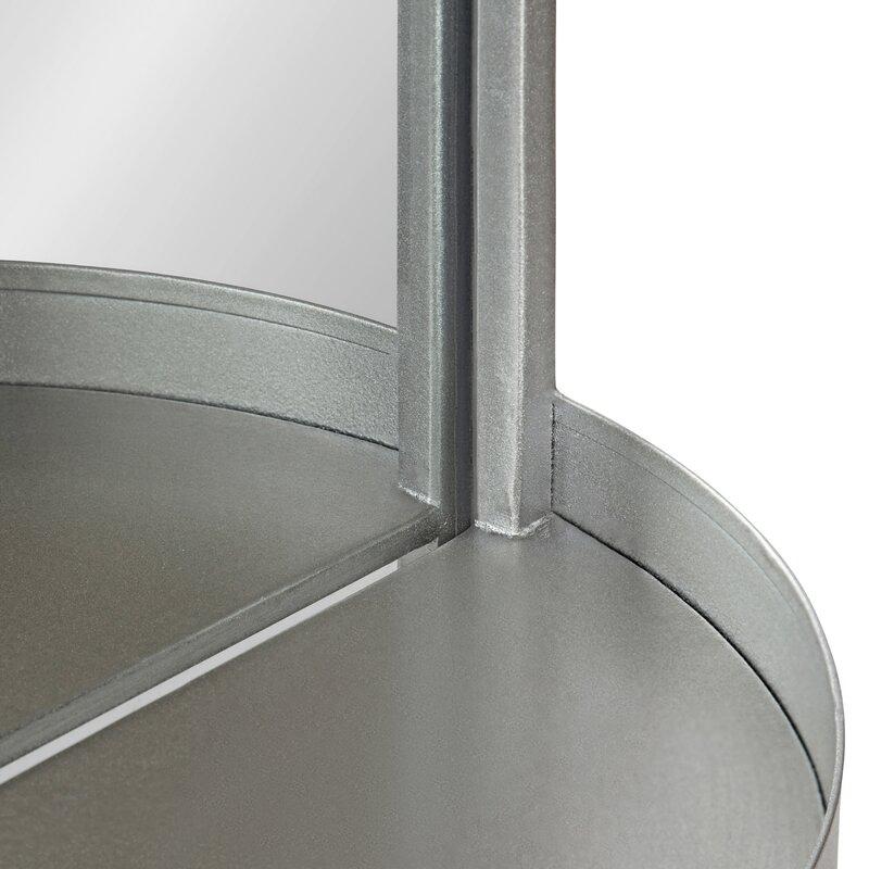 Ernst Accent Mirror with Shelf in Silver