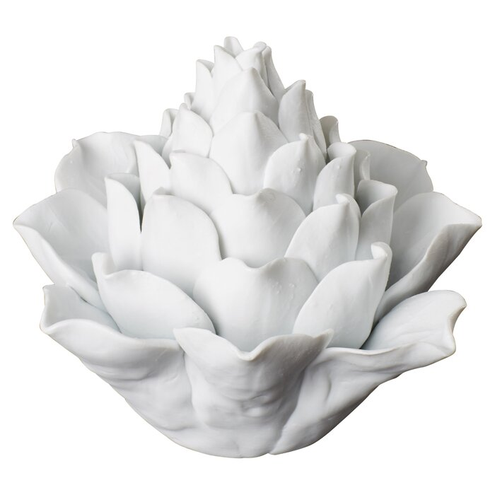 Marylyn Traditional Porcelain Artichoke Sculpture