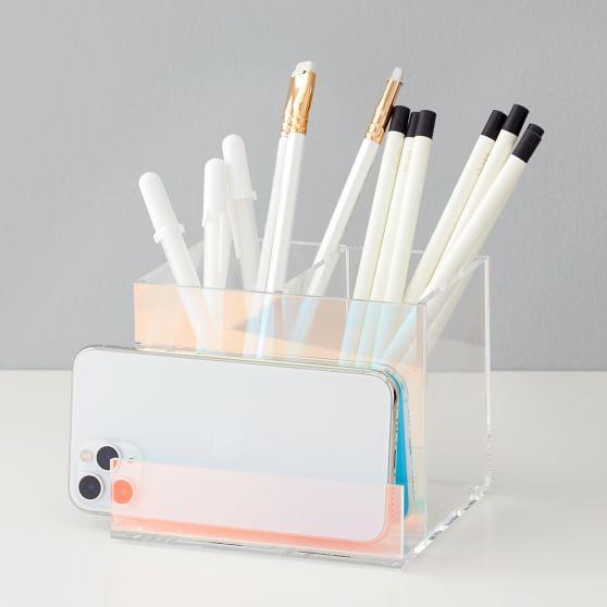 Acrylic Iridescent Pencil Cup/Phone Holder