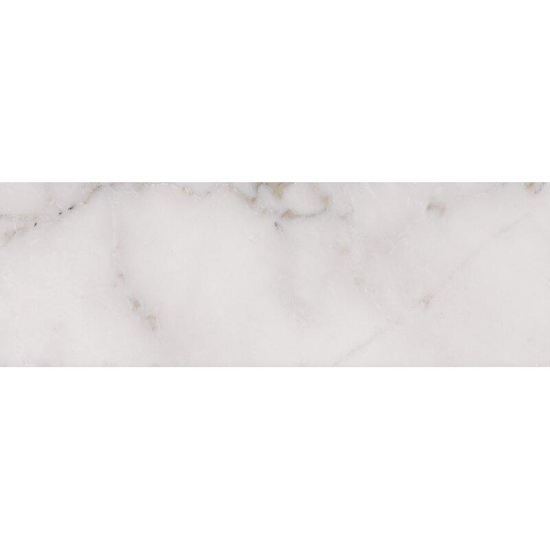 "Madeline 4"" x 12"" Marble Subway Tile- per box"