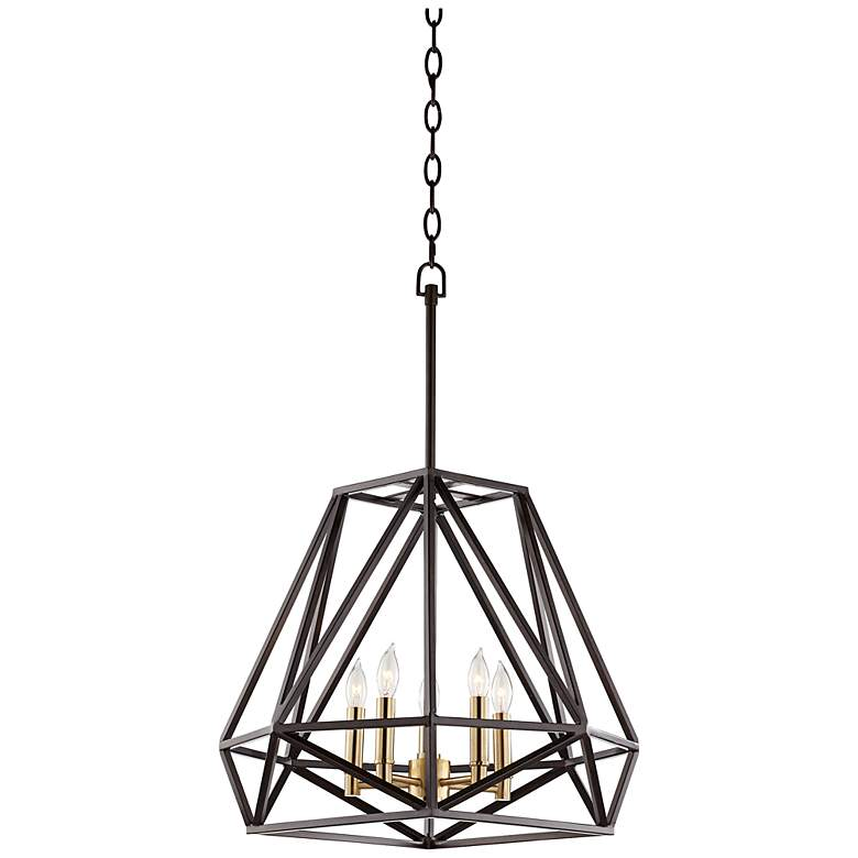 "Hawking 5-Light 20"" Wide Bronze Pendant Chandelier - Style # 7Y952"
