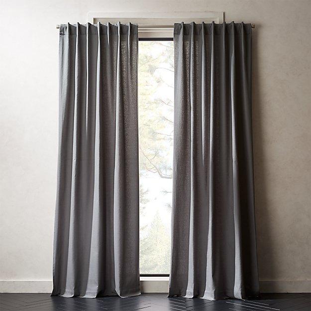 "Graphite Grey Basketweave II Curtain Panel 48""x84"""