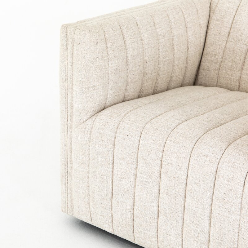 "Elosie 32"" W Polyester Blend Swivel Armchair - Dover Crescent"