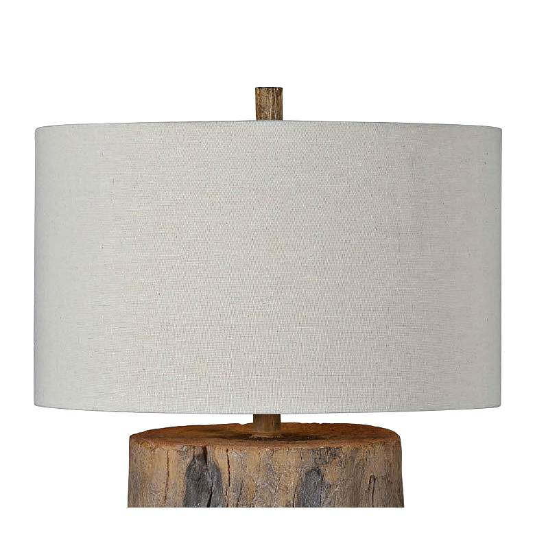 Forty West Decklin Weathered Wood Accent Table Lamp - Style # 70A71