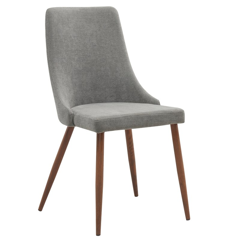 Blaise Upholstered Dining Chair (Set of 2) in Gray