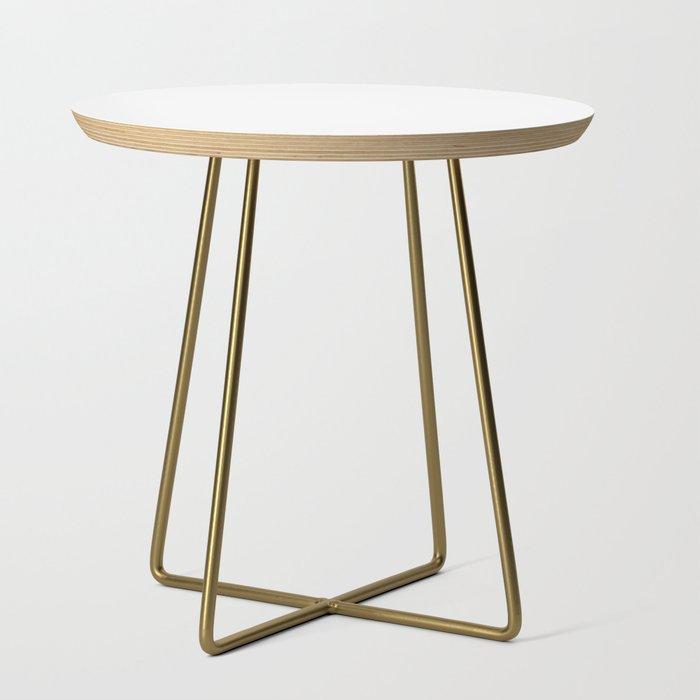 Side Table - Basics - Round White / Brass Legs