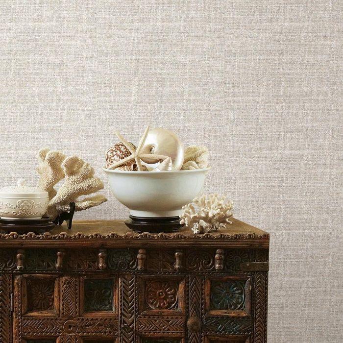 Tweed Peel and Stick Wallpaper - Beige