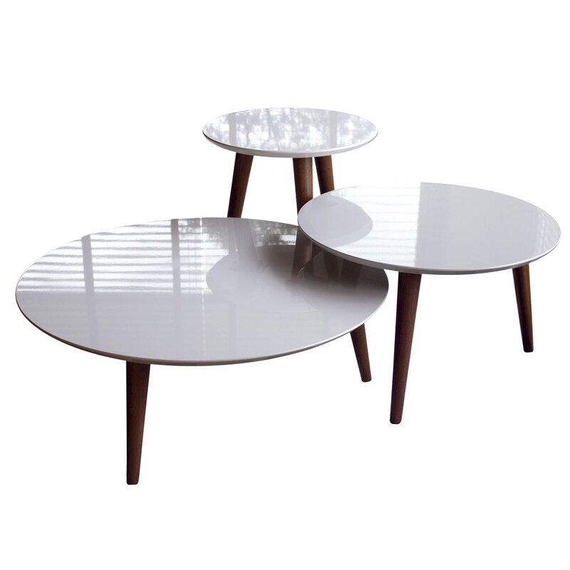 Enrique 3 Piece Coffee Table Set