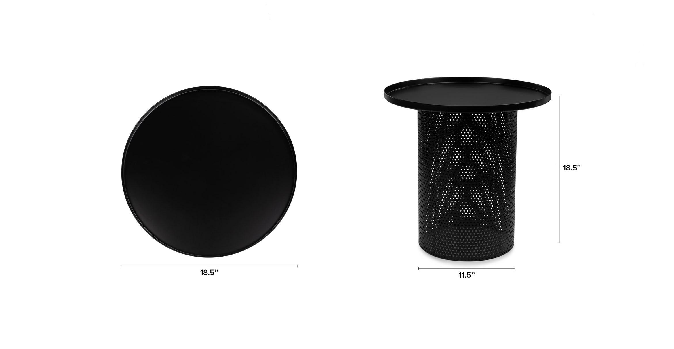 Equa Side Table, Black