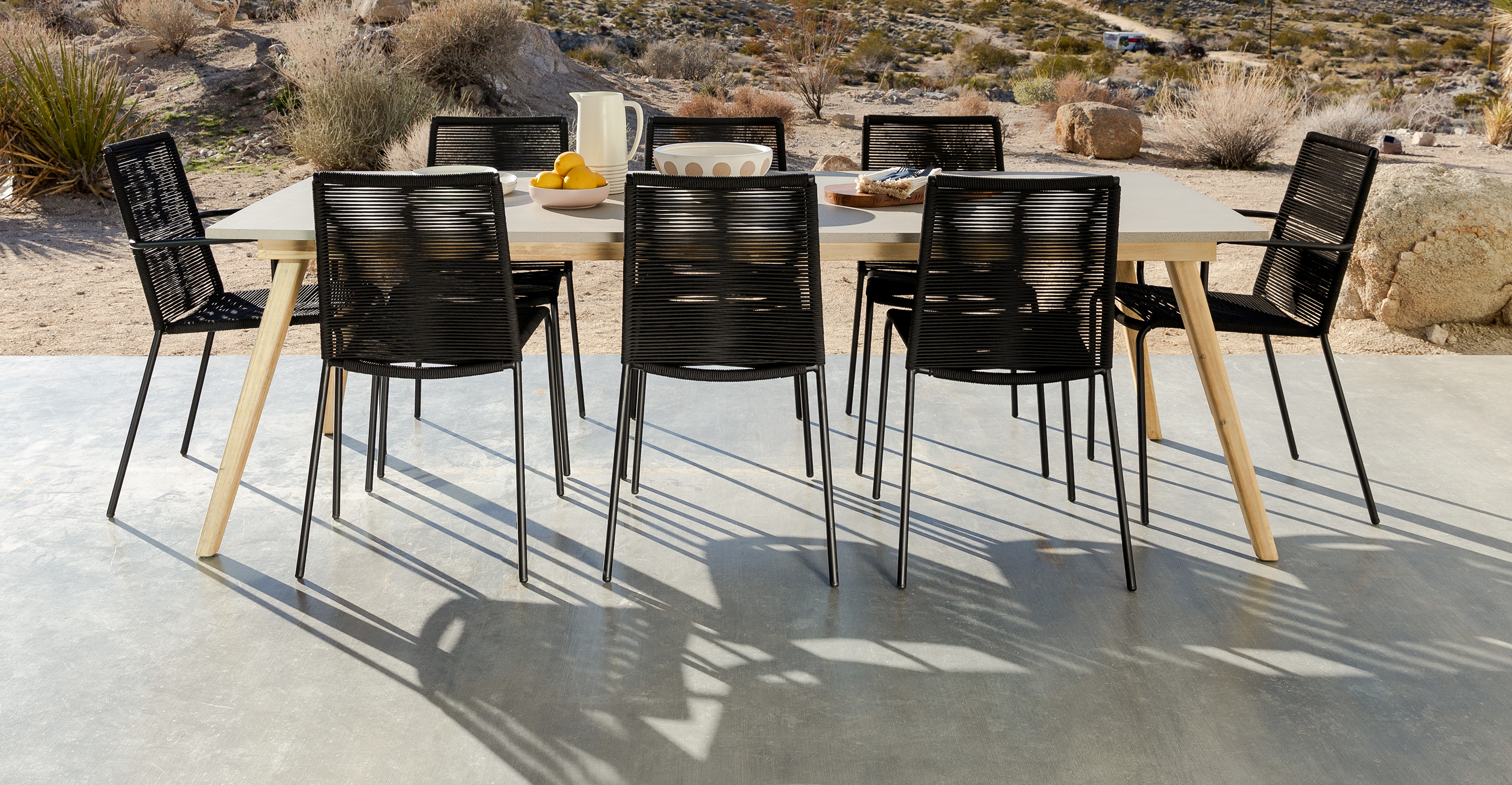 Zina Ember Black Dining Chair - Set of 2