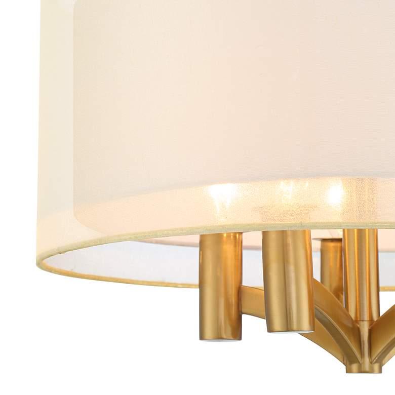 "Caliari 18"" Wide Warm Brass 5-Light Ceiling Light - Style # 71N79"