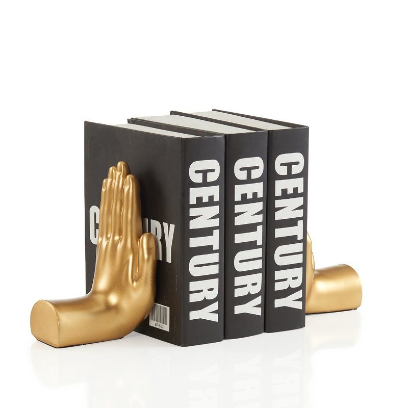 Hand Book End - Gold (back in stock 12/18/20)