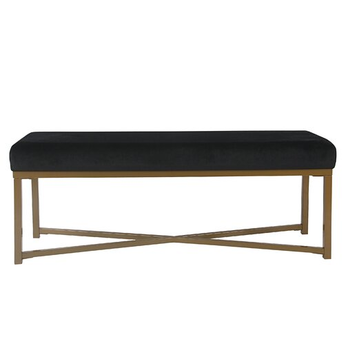 Lonon Rectangle Velvet Bench