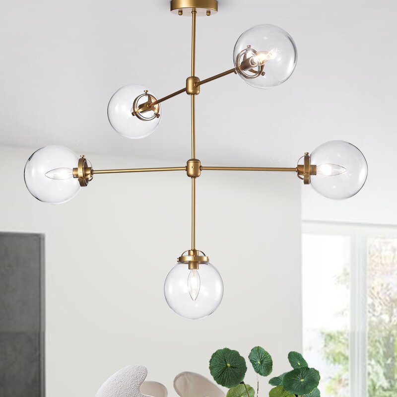 Wrought Studio Nieves 5-Light Sputnik Chandelier