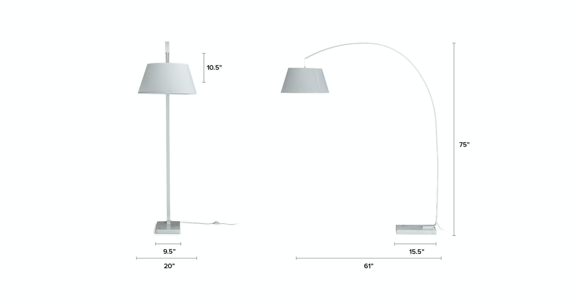 Willo White Floor Lamp
