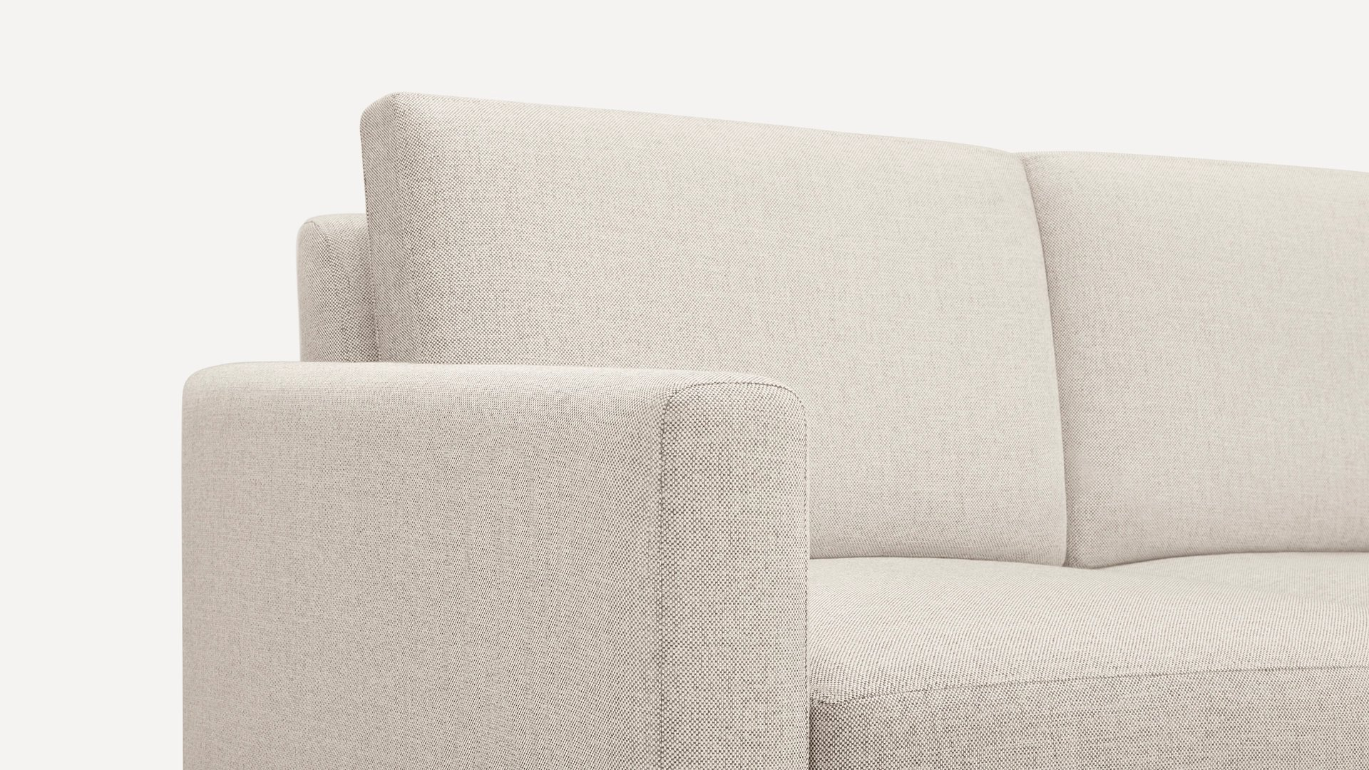 Block Nomad Sofa Sectional - Ivory - Brass