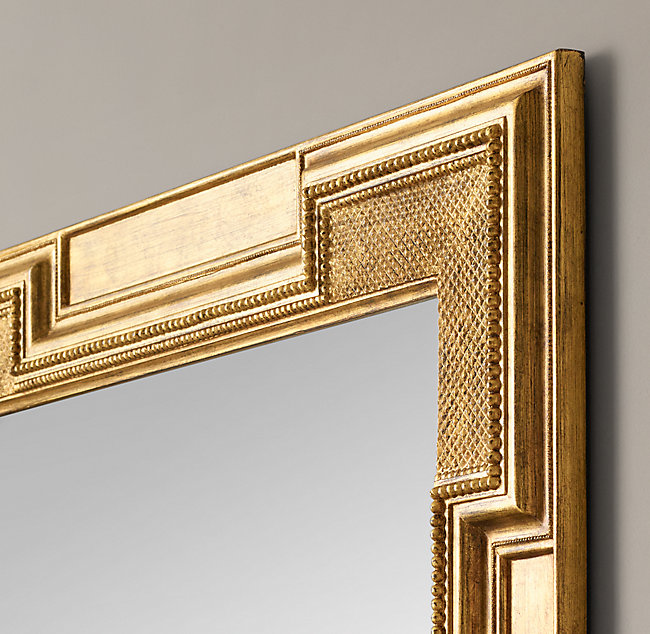 "FLEMISH COURT MIRROR - 60"" square - Gold Gilt"