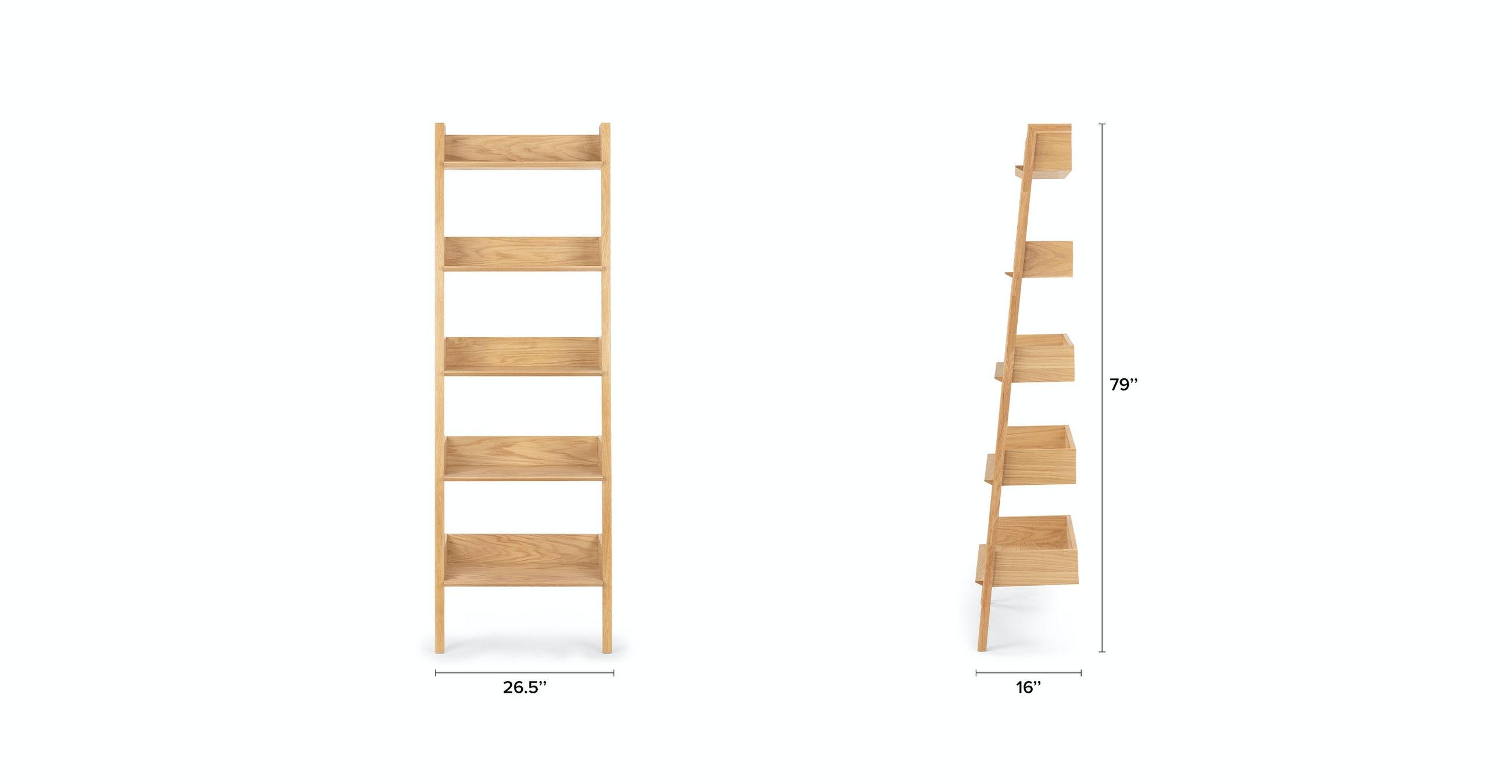 Fantol Oak Narrow Bookcase
