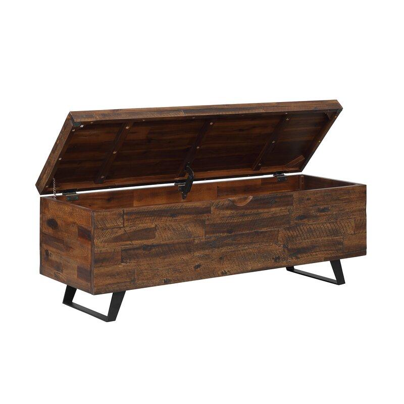 Deerfield Acacia Wood Storage Bench