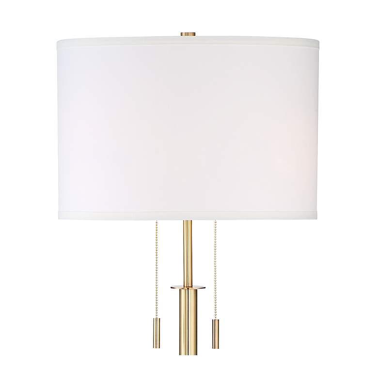 Possini Euro Encino Antique Brass Tripod Floor Lamp - Style # 33D09