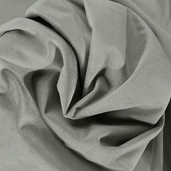 "Albert Velvet Solid Blackout Thermal Rod Pocket Single Curtain Panel - 50"" x 120"" Silver Gray"