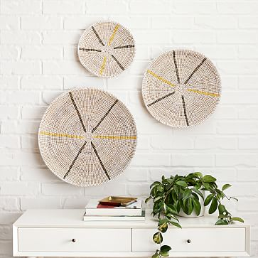 Mbare Graphic Wall Hanging, White, Set of 3