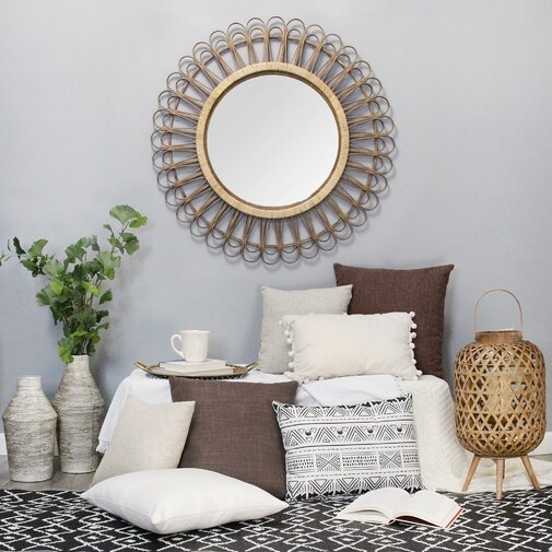 Assia Rattan Eclectic Accent Mirror