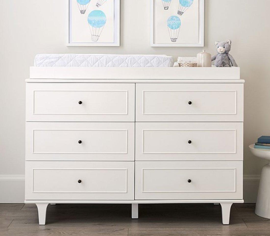 Dawson Extra-Wide Dresser & Topper Set, Simply White