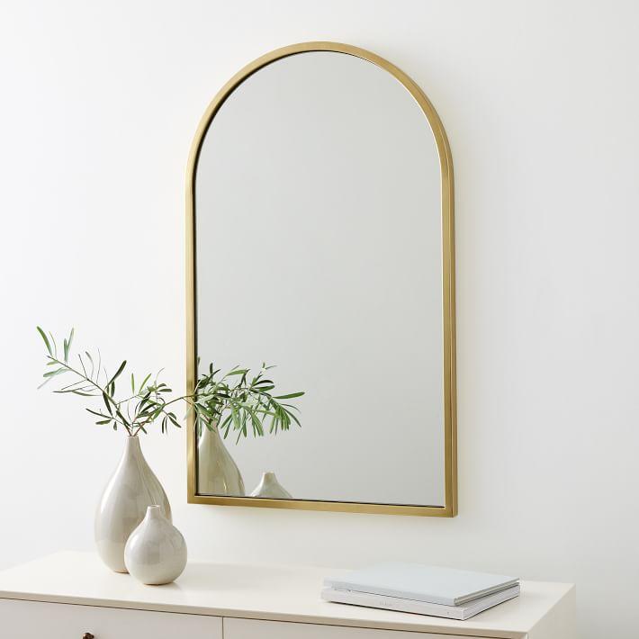 New Shape Metal Mirror, Brass