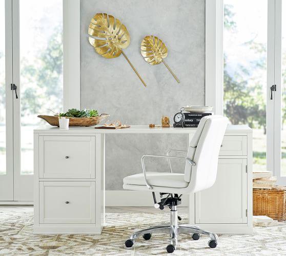 Logan Desk, Antique White