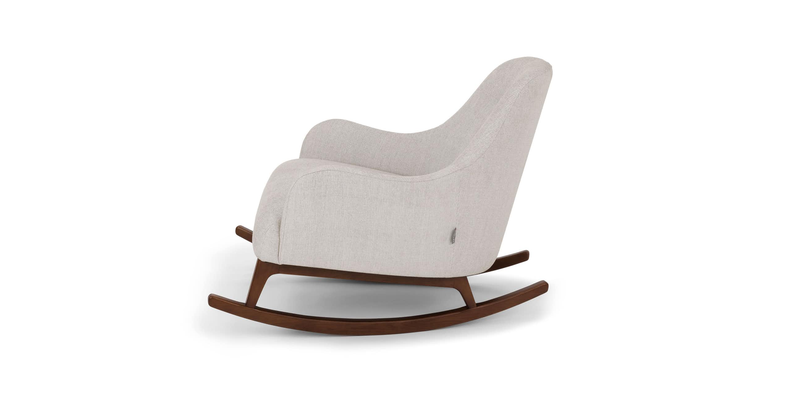 Embrace Coconut White Rocking Chair