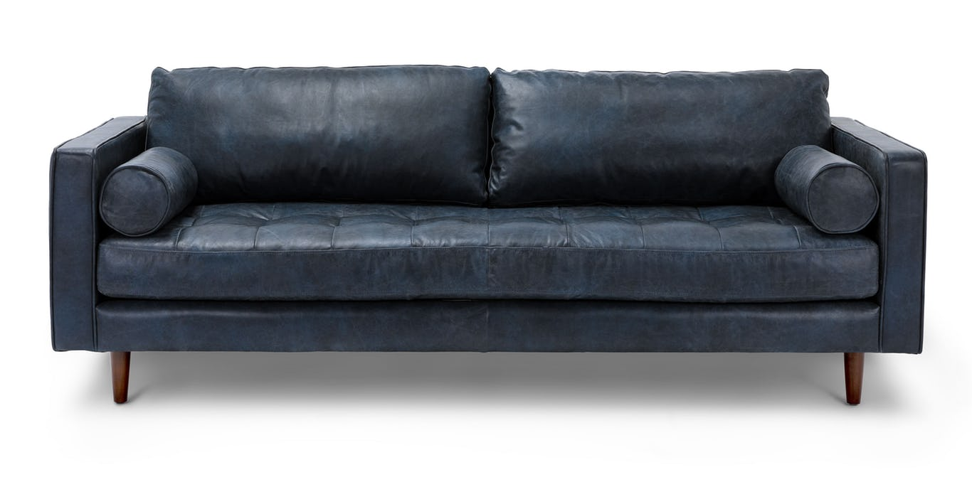 Sven Oxford Blue Sofa