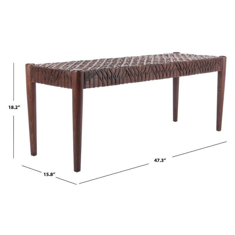 Bandelier Solid Wood Bench