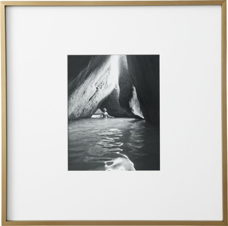 Gallery Brass Frame with White Mat 18x24