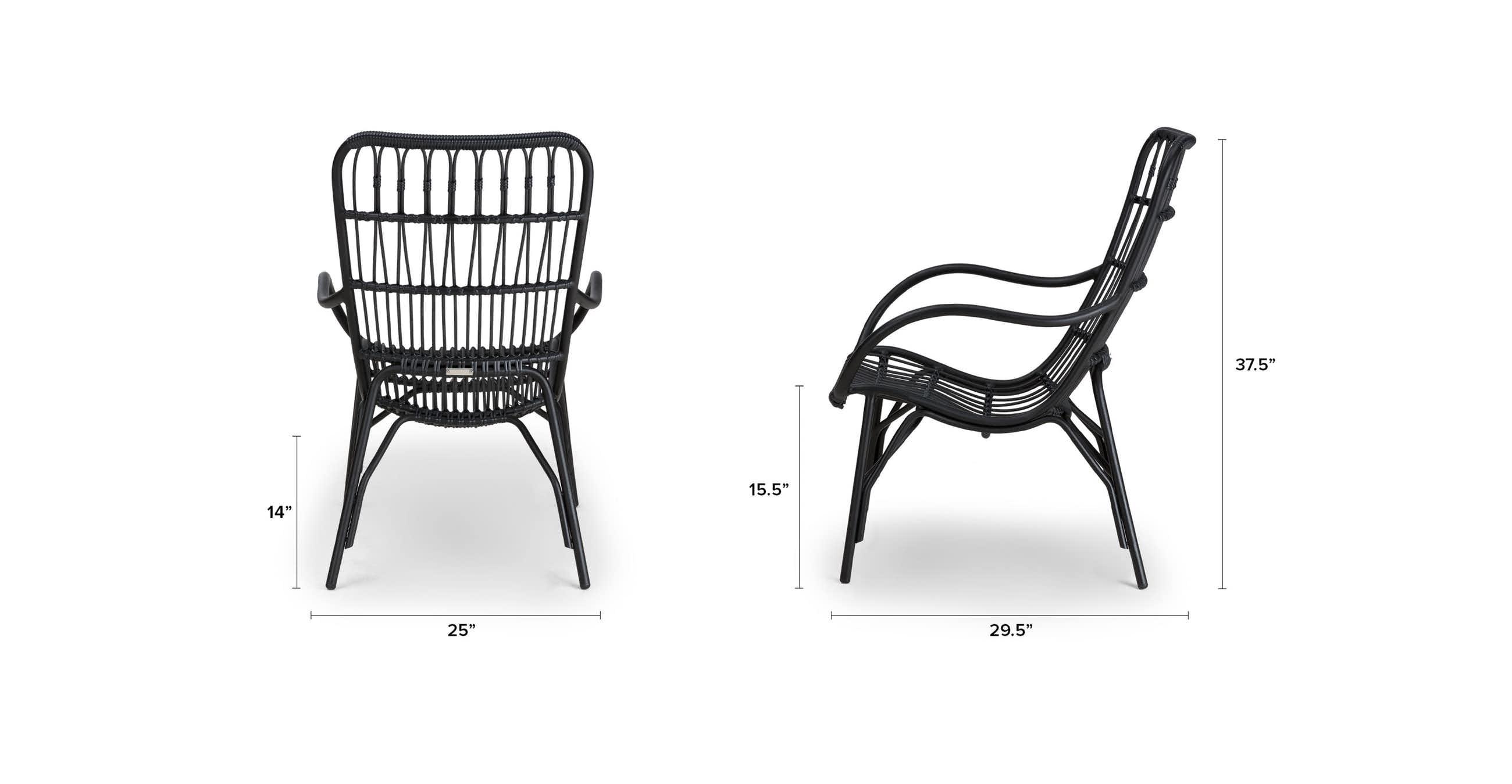 Medan Graphite Lounge Chair