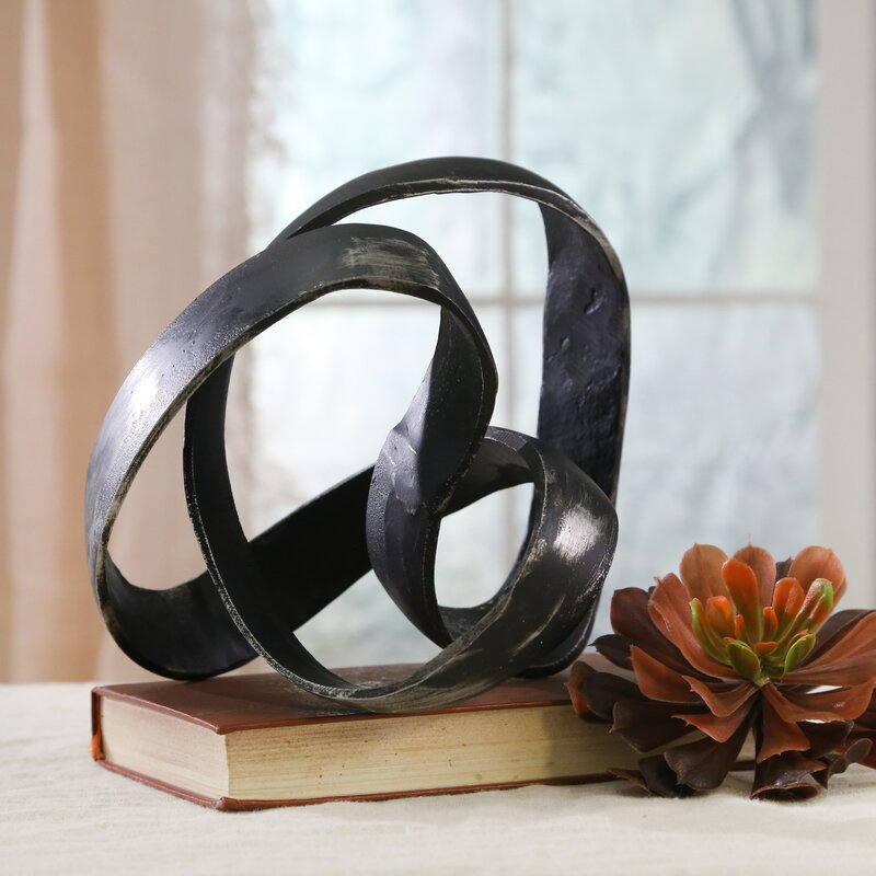 Black Verity Aluminum Knot Sculpture