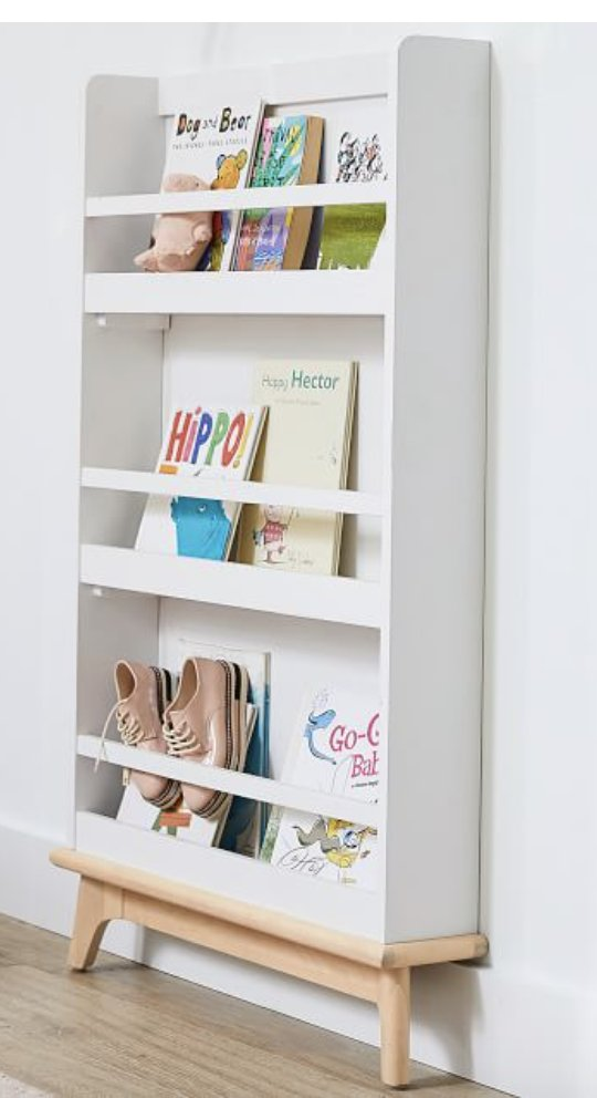 Sloan Bookrack, Simply White/Natural, Unlimited Flat Rate Delivery