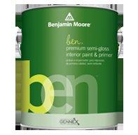 Ben® Waterborne Interior Paint - Semi-Gloss Gallon Oxford Gray 2128-40