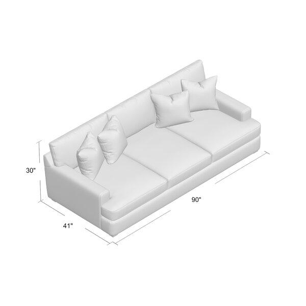 "Elisa 90"" Recessed Arm Sofa"