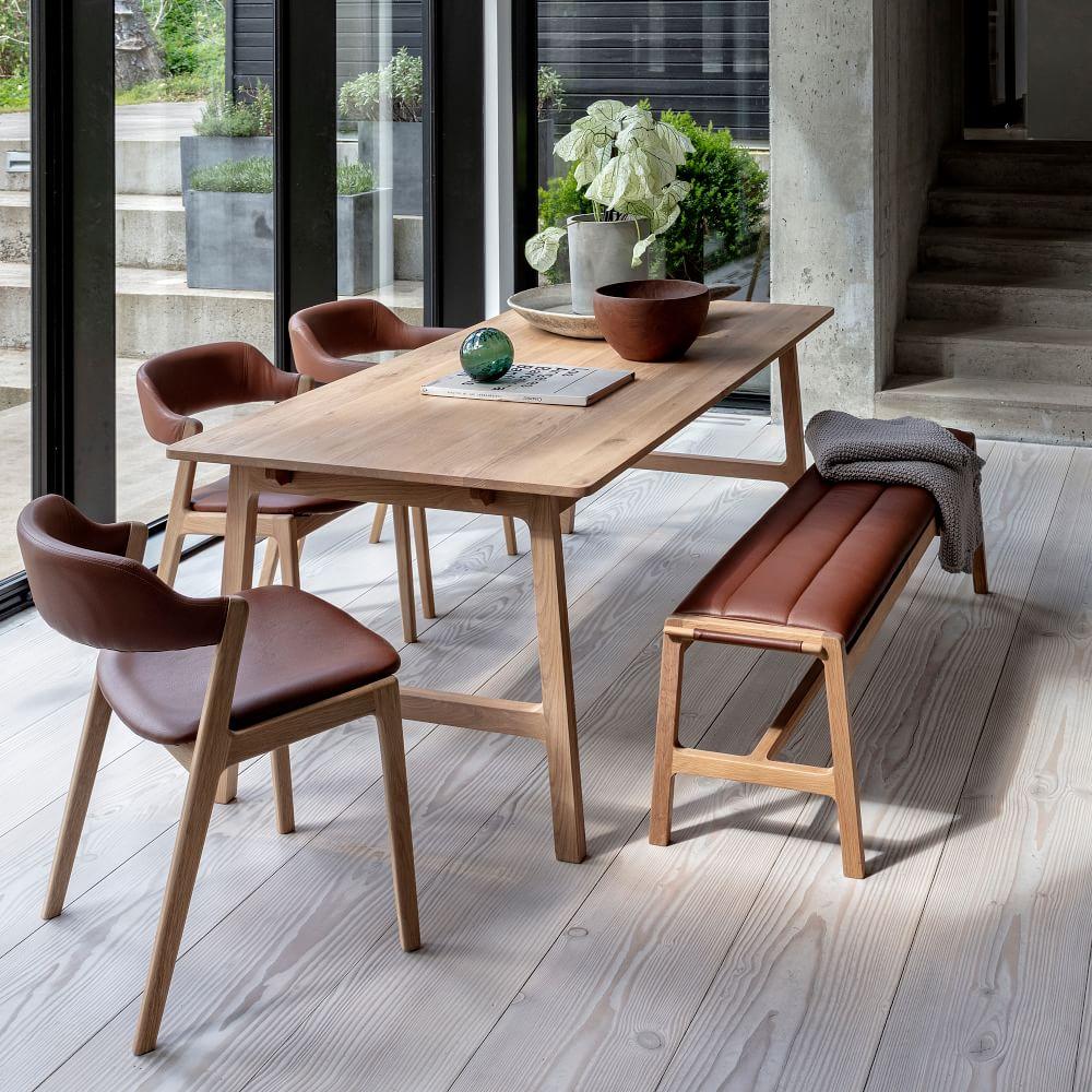 Carlisle Expandable Dining Table Oak 74-106 in