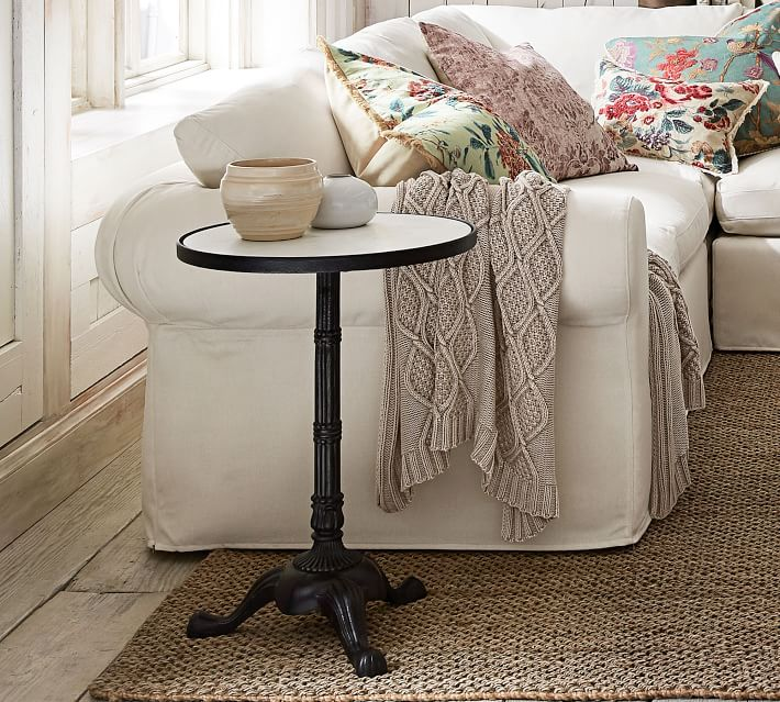Rae Marble End Table, Bronze