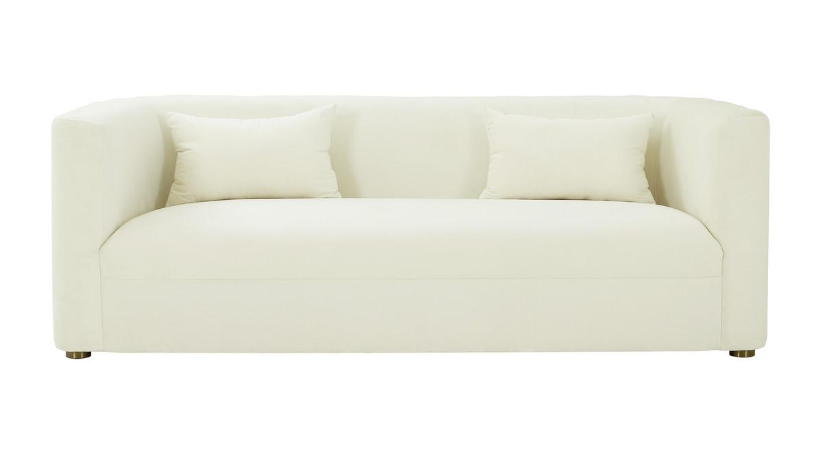 Callie Cream Velvet Sofa