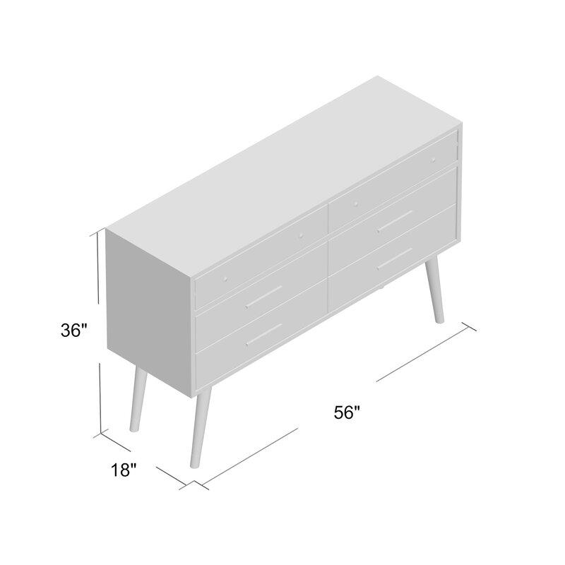 Hope 6 Drawer Double Dresser