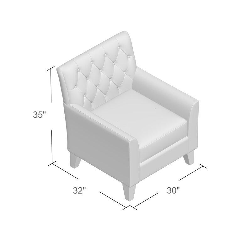 Popel 29.5'' Wide Tufted Linen Armchair