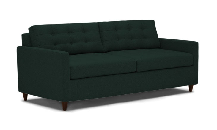 Eliot Sleeper Sofa- Royale Evergreen- Mocha Legs