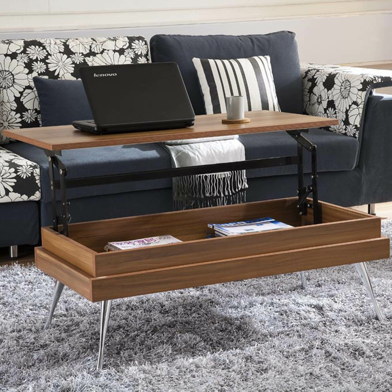 Lenora Lift Top Coffee Table with Storage