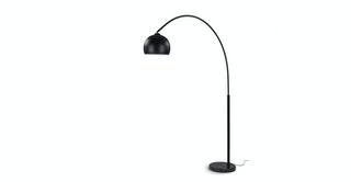 Crescent Black Floor Lamp