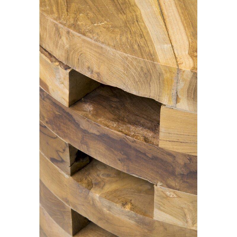 Bandla Solid Wood Drum Coffee Table